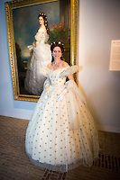 Pia Douwes seen dressed as Empress Elisabeth of Austria during Sisi, fairy tale & reality exhibition at Het Loo Palace on April 2015 in Apeldoorn, Netherlands. The exhibition highlights the life.