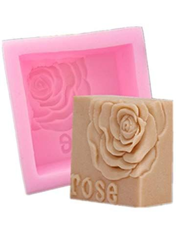 Longzang S515 Dragonfly Flower Silicone Soap Mold 3D Handmade Craft Mould