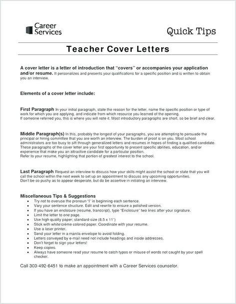 How To Write A Resume Paragraph Cover Resume Teacher Cover Letter Example Teaching Cover Letter Application Letter For Teacher