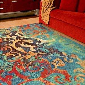 Rugs Area Rugs 8x10 Rug Carpets Modern Large Colorful Bedroom 5x7 Cool Blue Rugs Ebay Orian Rugs Brown Living Room Decor Area Rugs