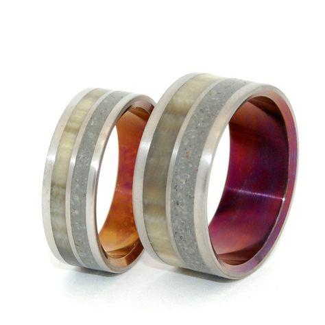 Minter + Richter | Titanium Rings - Juniper Flowers Set | Titanium Rings | Minter + Richter