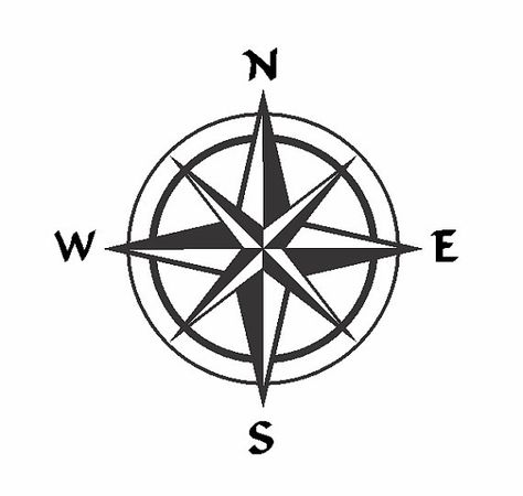 Compass Rose Single Layer Vector File by USALaserPro on Etsy