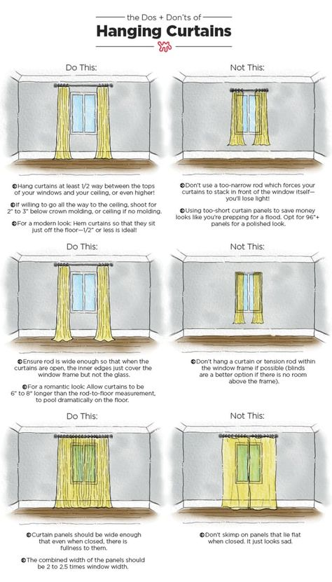 Thursdayu0027s Tips U0026 Tricks: How To Hang Curtains | Hang Curtains, How To Hang  Curtains And How To Hang