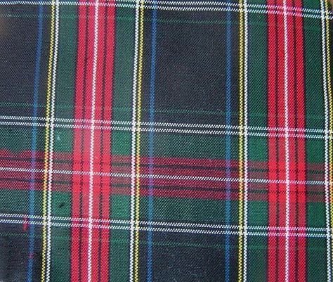 Red Royal Stewart Tartan Woven Poly-Viscose Crafts Dress-Making Fabric Material