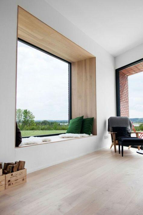 wohnideen wohnzimmer fensterbank sitzbank gemuetlich Home - innenarchitektur design modern wohnzimmer