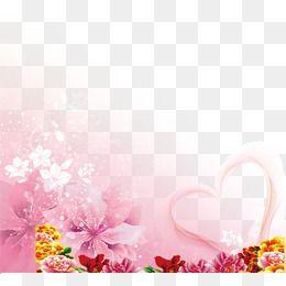 2019 的 Transparent Decorative Flowers Background 主题