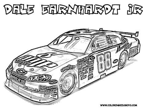 Dale Earnhardt Jr Coloring Pages Kleurplaten Kleurboek Raceauto