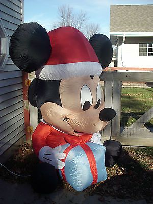 Disney Christmas Mickey Mouse Airblown Inflatable 6 ft Lights Up | eBay