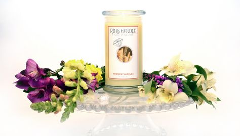 French Vanilla Ring Candle  With our new Ring Candles you can now pick your own ring size =) A Perfect Fit Every Time!   Our French Vanilla Ring Candle is a creamy and sugary vanilla aroma that is sure to delight everyone in your home !