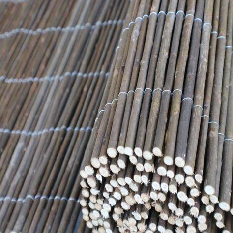 Weidenmatte-Weidenzaun-Sichtschutz-Schilfrohrmatte-Windschutz-Bambusmatte-Zaun