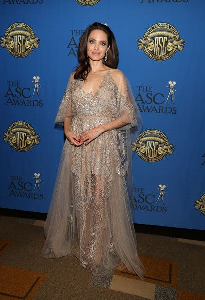 Actor/director Angelina Jolie attends the 32nd Annual American Society of Cinematographers Awards at The Ray Dolby Ballroom.