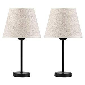 Haitral Bedside Table Lamps Modern Nightstand Lamps Set Of 2