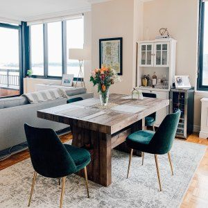 44++ Weathered wood dining table and chairs Ideas