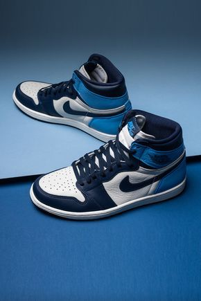 Air Jordan 1 Retro High Og Obsidian University Blue Nike Jordans Air Jordan 1 Retro High Og Obsidian University Blue 555088 140 2019 In 2020 Blue Basketball Shoes Nike Fashion Shoes Sneakers Men Fashion