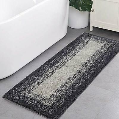 Bath Rug Runner Haocoo Banded Ombre Gray Bath Mat 18x47 Inch Gradient Gray In 2020 Grey Bath Mat Long Bathroom Rugs Bath Runner Rugs