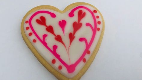 Sweet beautiful Valentine cookies for your special people in your life. Get full recipe and tutorial on my blog