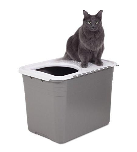 Cat Training Litter Box Brand Petmate Color White Features Designed To Keep Dogs From Digging In The Litter A In 2020 Pet Mat Cat Training Litter Box Cat Litter