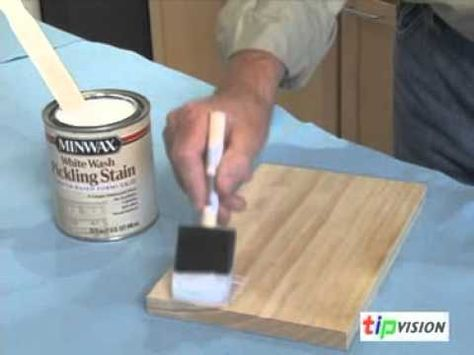 How to Create a Pickled Finish on Wood using Pickling Stain - Video Tutorial