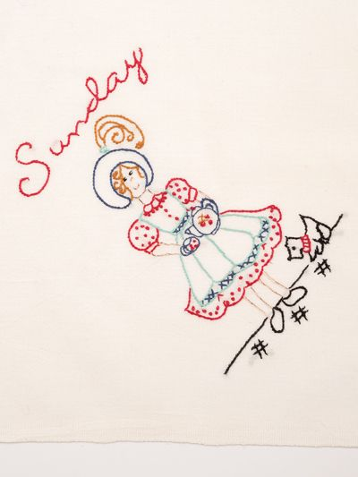 Chore Girls Embroidery Towel Pattern | Dish towels | Sewing