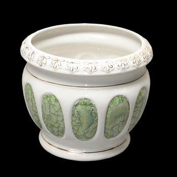 Painted Planter Porcelain Vase Flower Pot 16581 Shop Http Www Rensup Com Planters Planters White Or Green Cerami Green Ceramics Ceramics Ceramic Vase