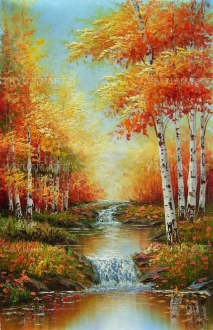 Trendy Nature Landscape Painting Easy 67 Ideas Painting Nature Landscape Easy Landscape Paintings Scenery Paintings Landscape Paintings