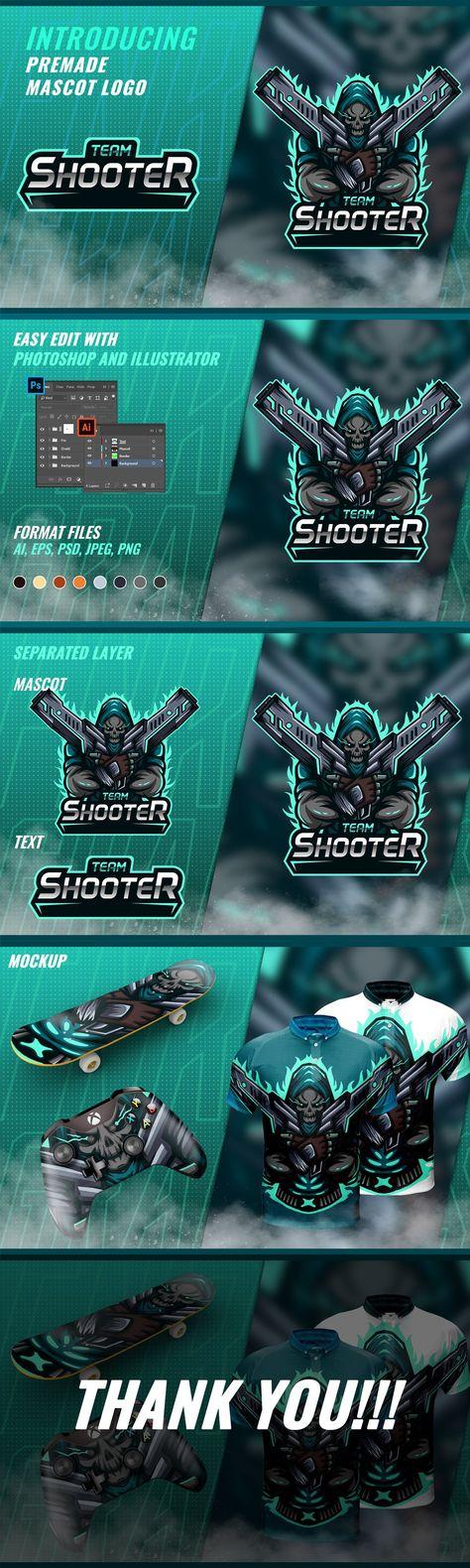 Team Shooter - ESport & Mascot Logo