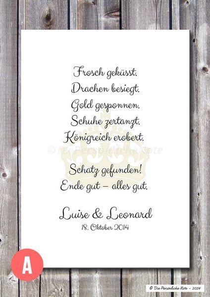 Gastgeschenke - Druck/Print: Märchen - Liebe/Hochzeit/Verlobung - ein Designerstück von DiePersoenlicheNote bei DaWanda