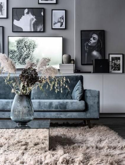 Living Room Ideas Blue Grey Couch 30 Ideas Home Living Room House Interior Trendy Living Rooms