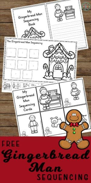 FREE Gingerbread Man Sequencing Activities -free printable worksheets to help kindergarten age kids practice sequencing with a gingerbread theme activity perfect for December Gingerbread Man Story, Gingerbread Man Activities, Gingerbread Man Kindergarten, Sequencing Cards, Sequencing Activities, Story Sequencing Worksheets, Writing Activities, Preschool Christmas, Christmas Activities
