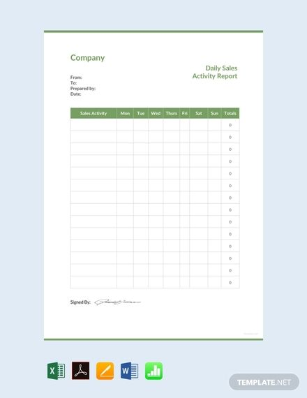Instantly Download Free Daily Sales Activity Report Template Sample Example In Pdf Mic Sales Report Template Daily Sales Report Daily Sales Report Template