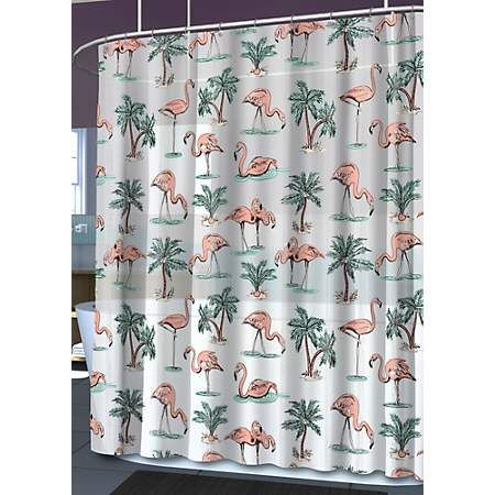 Beallsflorida Splash Home Flamingo Shower Curtain Flamingo