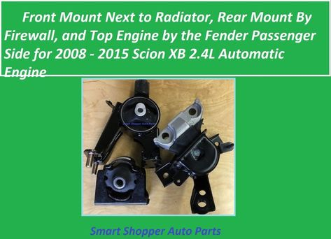 4PC MANUAL TRANSMISSION MOTOR MOUNT FOR 2005-2006 TOYOTA COROLLA XRS 1.8L NEW