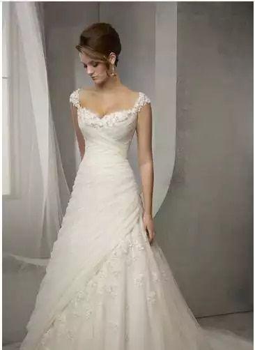 Online Shop Latest Design Vintage Wedding Dress Lace Cap Sleeve Beaded A Line Bridal D In 2020 Lace Wedding Dress Vintage Wedding Dress Cap Sleeves Aline Wedding Dress