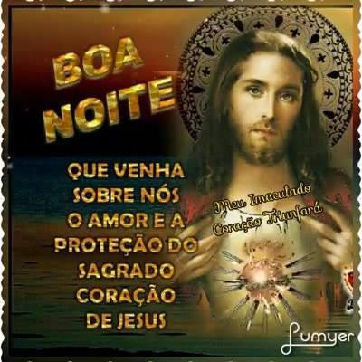 Mensagem De Boa Noite Protegida Pelo Sagrado Coracao De Jesus