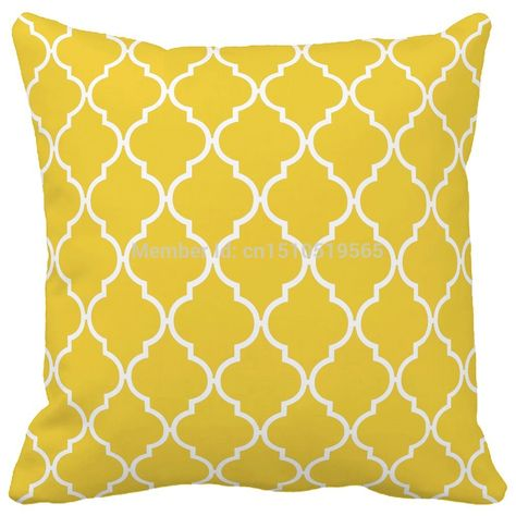 Freesia Yellow Coral Quatrefoil Geometric Pattern Print Home Decorative Throw pillow case decorate sofa cushion cover-in Cushion Cover from Home & Garden on Aliexpress.com   Alibaba Group