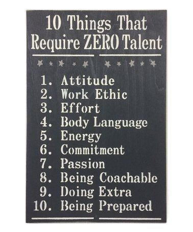 Charcoal 10 Things That Require Zero Talent Wall Sign Zulily