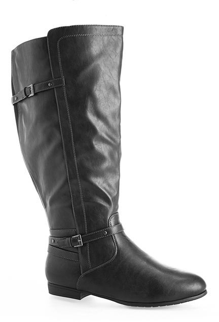 78e5238297d Clara Thin Buckle Riding Boot Shop wide   extra wide width and calf boots  in sizes 7-13W at avenue.com.