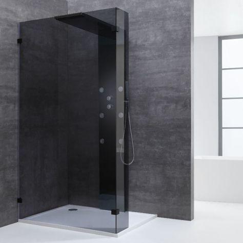 Badkamer Glazen Douchewand.Eago Douchewanden Ly1001 B Zwart 100x210 In 2019 Badkamer