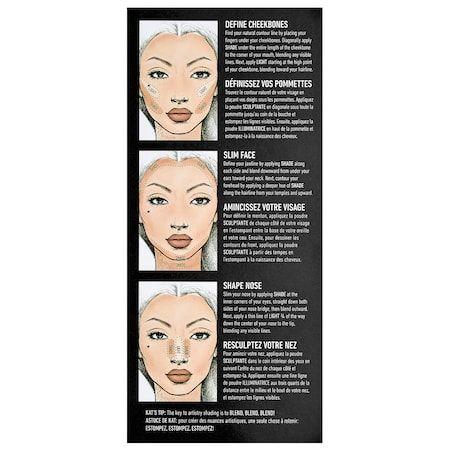 Shade Light Face Contour Refillable Palette Kvd Beauty Sephora Face Contouring Contour Palette Light Contouring
