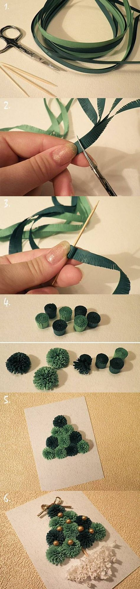 DIY Quilled Christmas Tree Card Internet Tutorial
