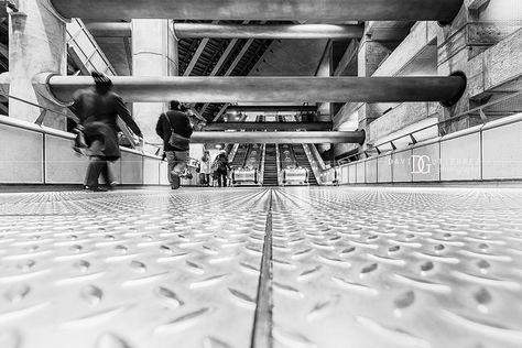 """Concrete"" Westminster London Underground Station, London, UK"