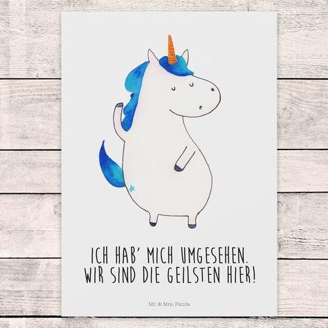 Wir sind die geilsten hier! Einhorn, Einhörner, Mein Einhorn und ich, Mr. & Mrs. Panda, Postkarte, Poster, Witzig, lustig, Spruch, Unicorn, Unicorns, Freundin, Geschenk