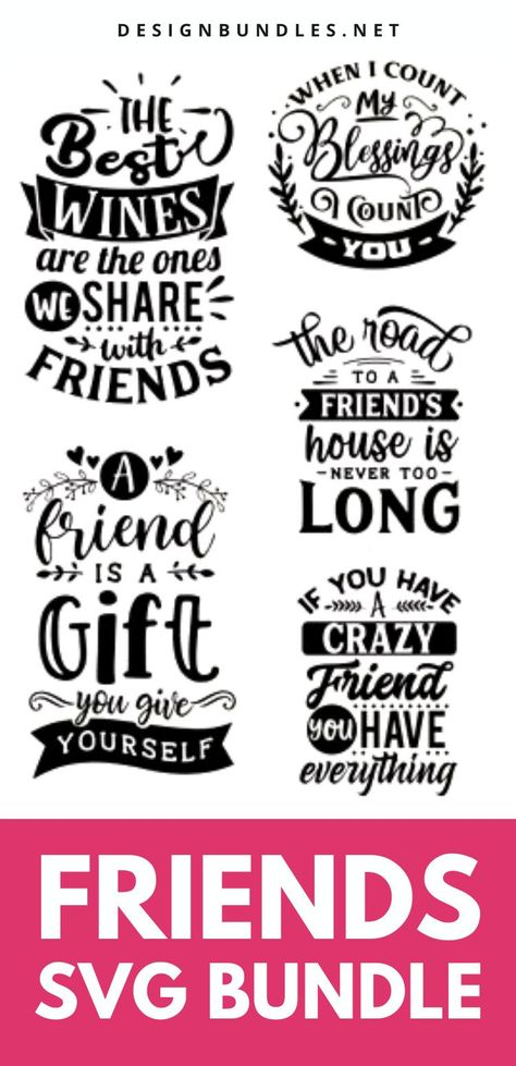 SVG designs: Friend quotes