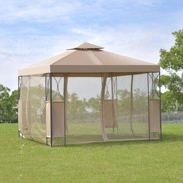 2 Tier 10 X 10 Patio Steel Gazebo Canopy Shelter Gazebo Canopy