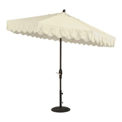 Dalia Scalloped Umbrella In 2020 With Images Patio Umbrella Patio Umbrellas Patio