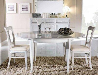 Tavolo Legno Tanganica Rotondo Ovale Allungabile Colore Noce Laccato Bianco 603t Tavolo Rotondo Tavolo Rotondo Ikea Tavolo