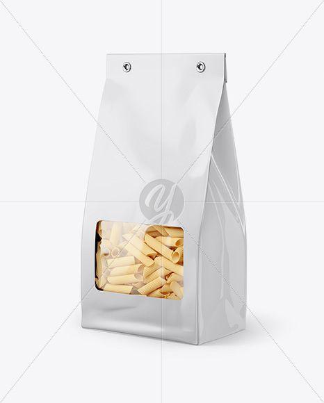 Download Paper Bag With Pennette Rigate Pasta Mockup Half Side View In Bag Sack Mockups On Yellow Images Object Mockups Paper Bag Mockup Free Download Mockup Free Psd