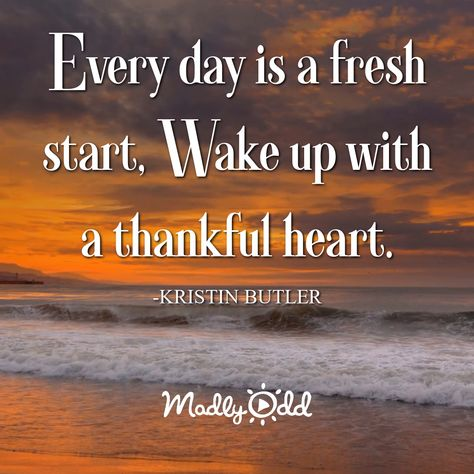 Every day is a fresh start. Wake up with a thankful heart. #morning #quotes #quote #inspiration #goodmorning #greeting #greetings #video