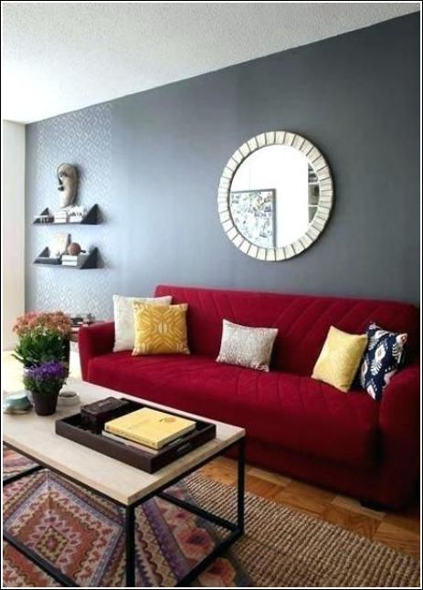 Red And Grey Living Room Curtains 1 Red Couch Living Room Red Sofa Living Red Sofa Living Room
