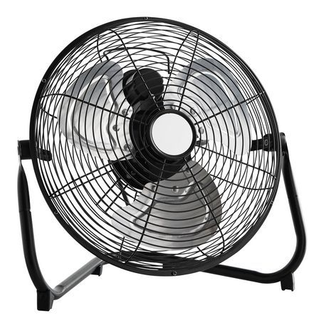 Mainstays Mainstays 12 Metal High Velocity Floor Fan Metal Finish Floor Fan Fan Mainstays